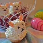 Sweet Little Lambs in a basket, photo