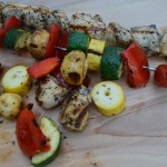 Lemon Herb Chicken and Vegetable Kebabs, photo