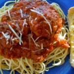 Spaghetti and meatballs, photo