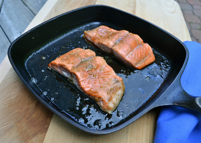 Bourbon Glazed Salmon photo
