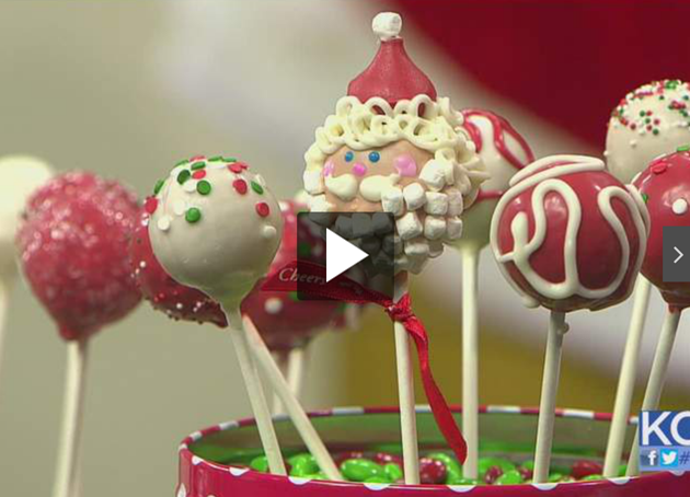 Brownie Cake Pops for the Holidays