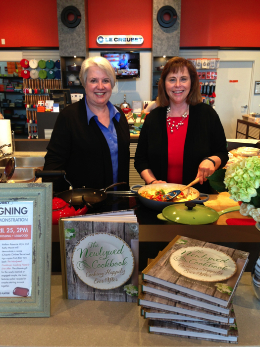A special thanks to the Le Creuset stores in St. Louis and Leawood, KS for hosting a book signing and give away.