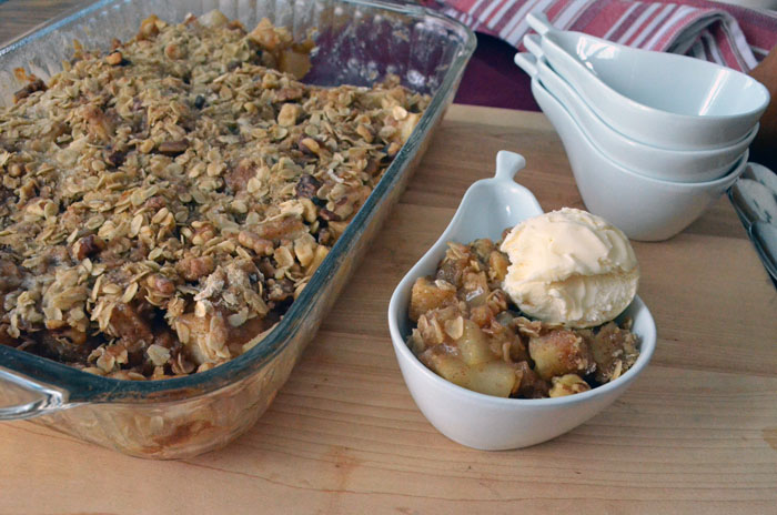 Pear and Walnut Crisp photo